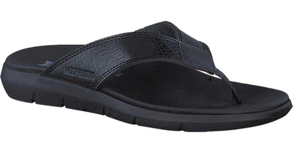 info for 3e359 920b0 Lyst - Mephisto Charly Thong Sandal in Black for Men