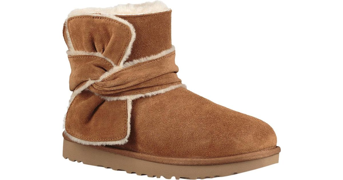 d38f185afb Lyst - UGG Mini Spill Seam Bow Bootie in Brown