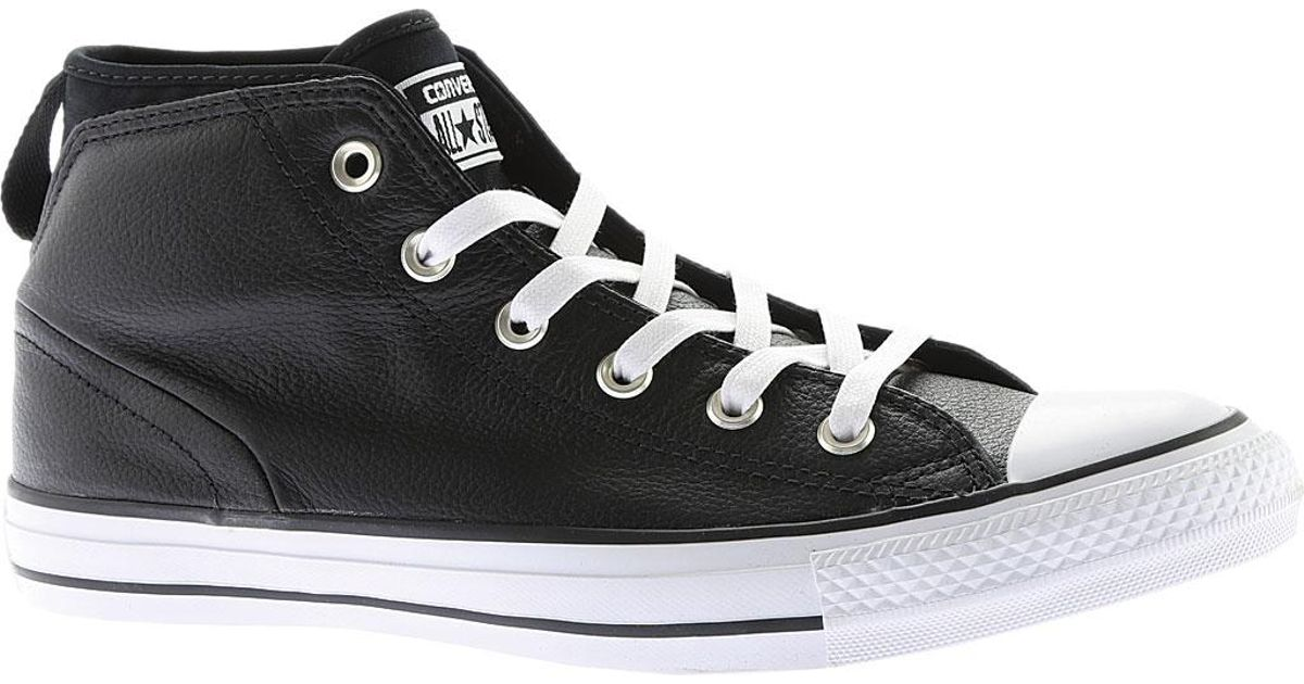 1f7199eafb17 Lyst - Converse Chuck Taylor All Star Syde Street Mid Leather in Black for  Men