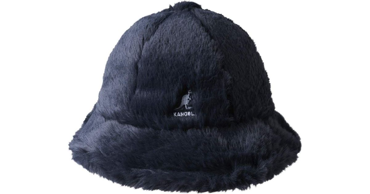Lyst - Kangol Faux Fur Casual Bucket Hat in Blue for Men - Save 14% 04a80f5757b8