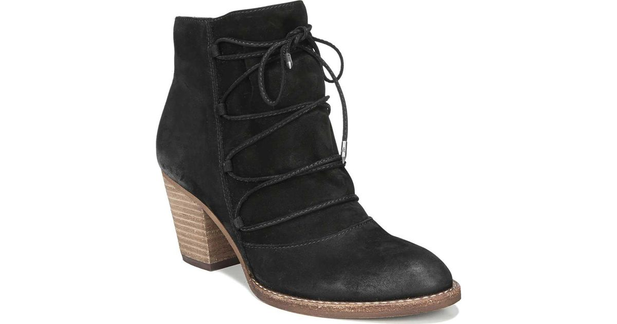 3663023ecbea85 Lyst - Sam Edelman Millard Lace Up Bootie in Black