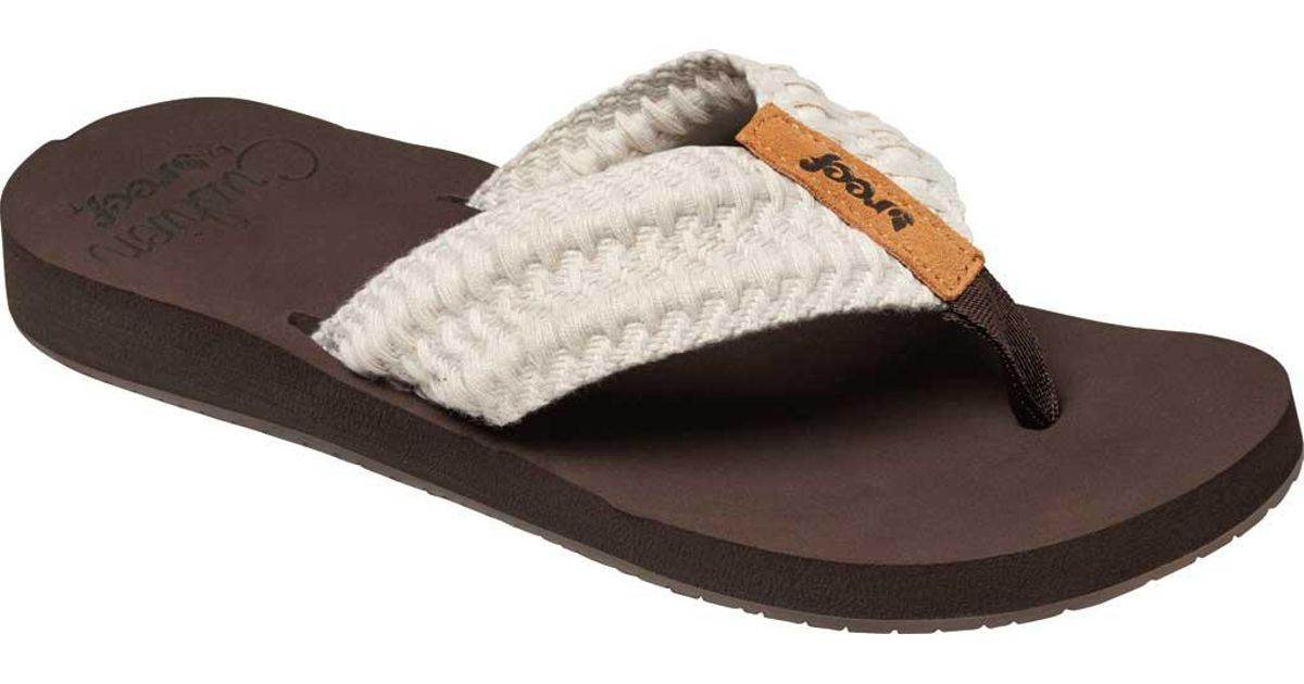cfdedc9e8e4 Lyst - Reef Cushion Threads Thong Sandal