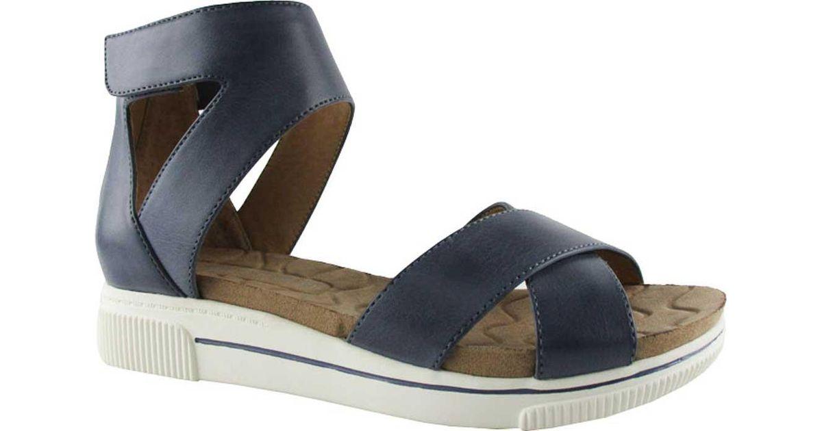 d430c7b2d396 Lyst - Adrienne Vittadini Clint Ankle Strap Sandal in Blue