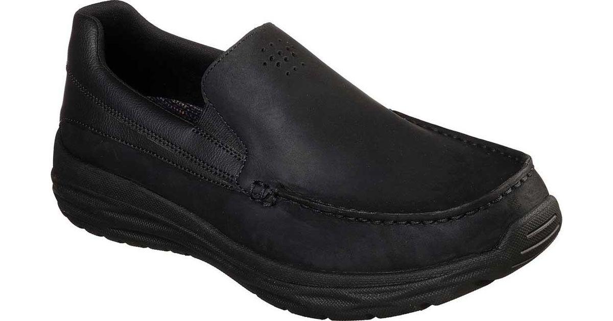 f41b1f7b4b7 Lyst - Skechers Harsen Ortego Loafer in Black for Men