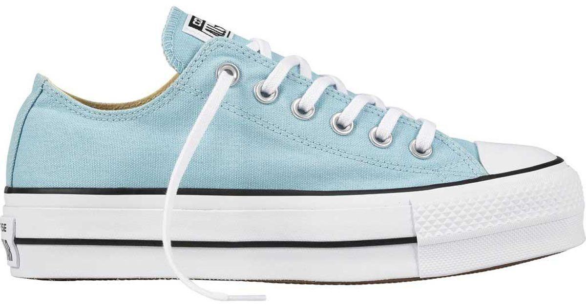 0f18ccff242 Lyst - Converse Chuck Taylor All Star Lift Platform Sneaker in Blue