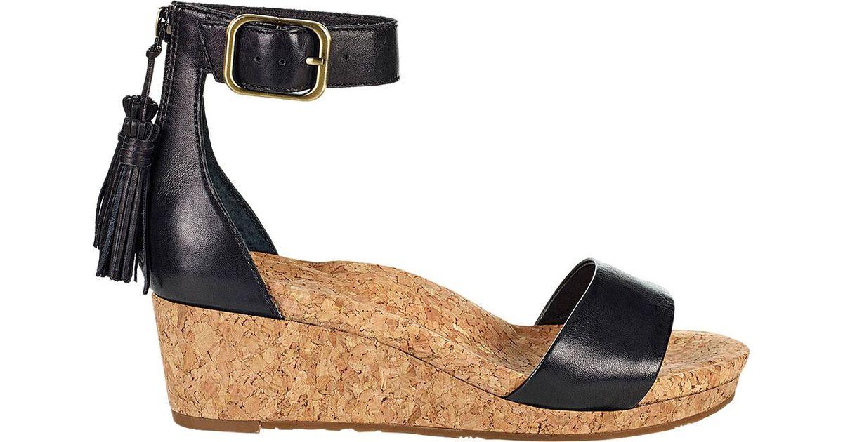 1b6bc3e0dc Lyst - UGG Zoe Ankle Strap Wedge Sandal in Black