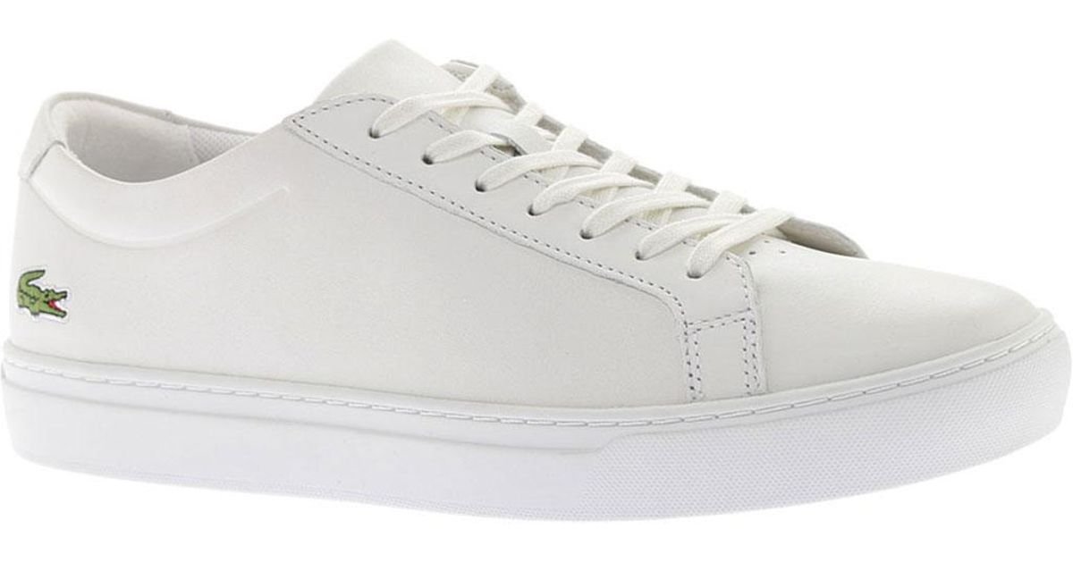 ac941f620b9390 Lyst - Lacoste L.12.12 Leather Sneaker in White for Men