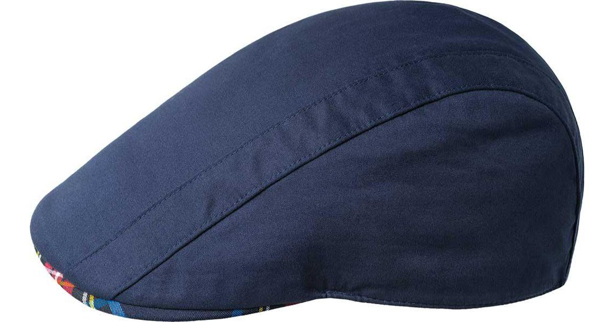 Lyst - Kangol Placket Flat Cap in Blue for Men 021e41aab10