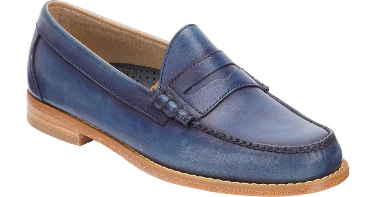 27ef36b83a8 Lyst - G.H.BASS Larson Weejuns Penny Loafer in Blue for Men