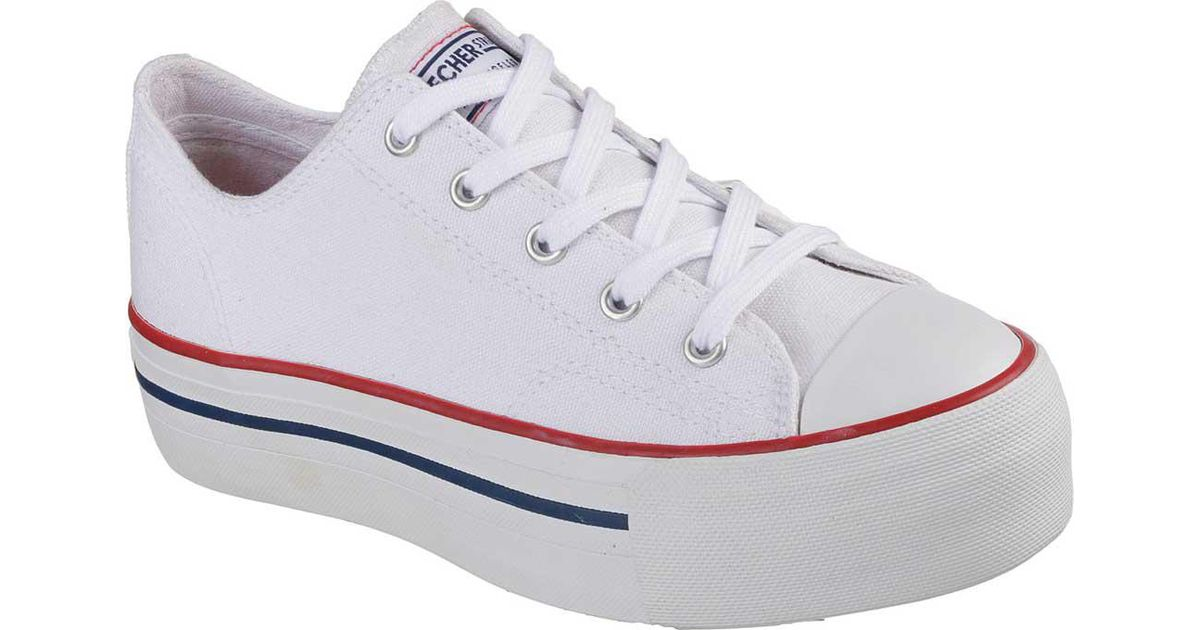 daf8d968c915 Lyst - Skechers Tripple Play Classic Height Platform Sneaker in White