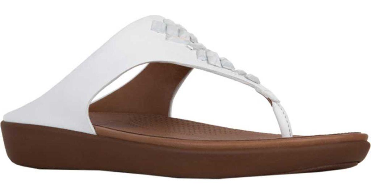 784ae6ab106 Lyst - Fitflop Banda Ii Toe Thong Sandal in White