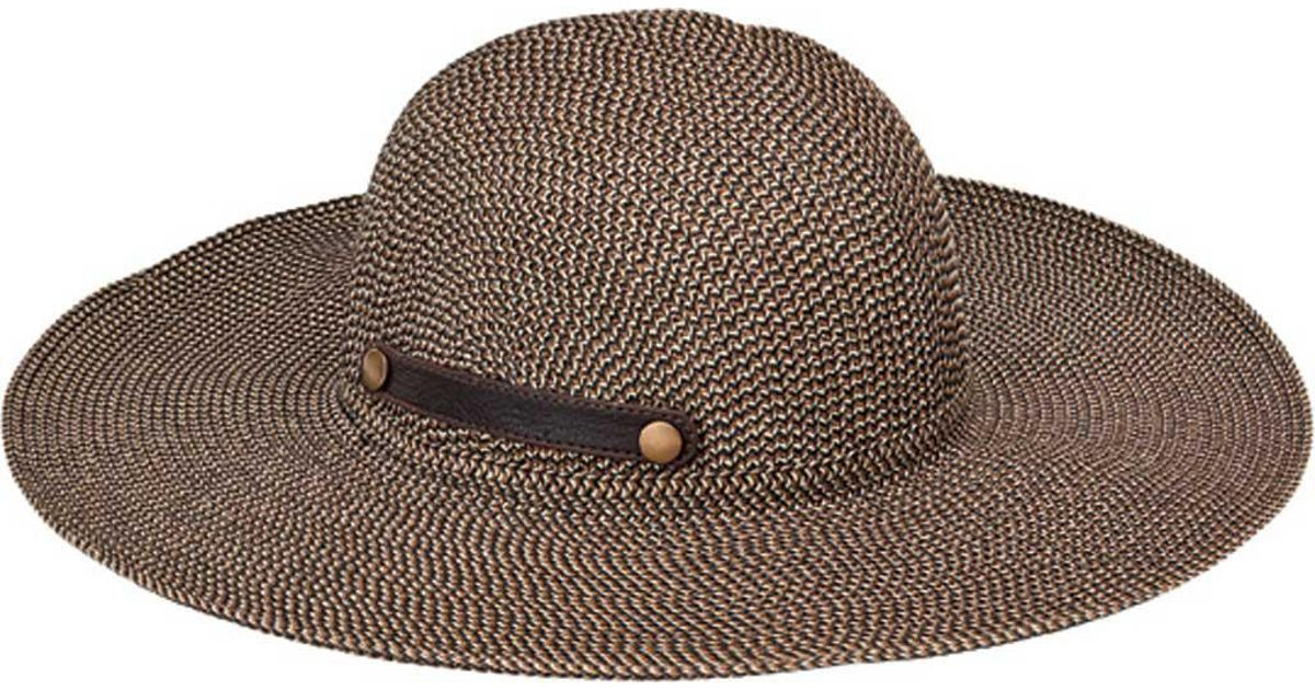 cd88e32a0f9 Lyst - San Diego Hat Company Ultrabraid Packable Sun Hat With Snap Tab  Ubl6815 in Brown