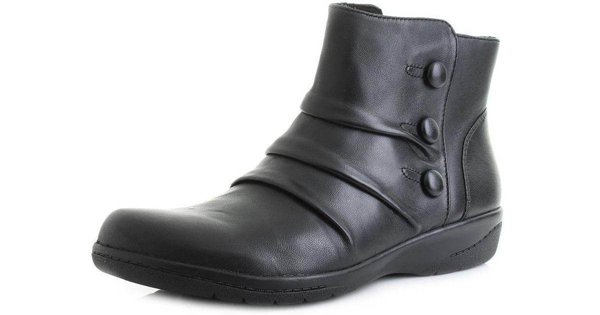 4b4167141bf Clarks - Black Cheyne Anne Ankle Boots - Lyst