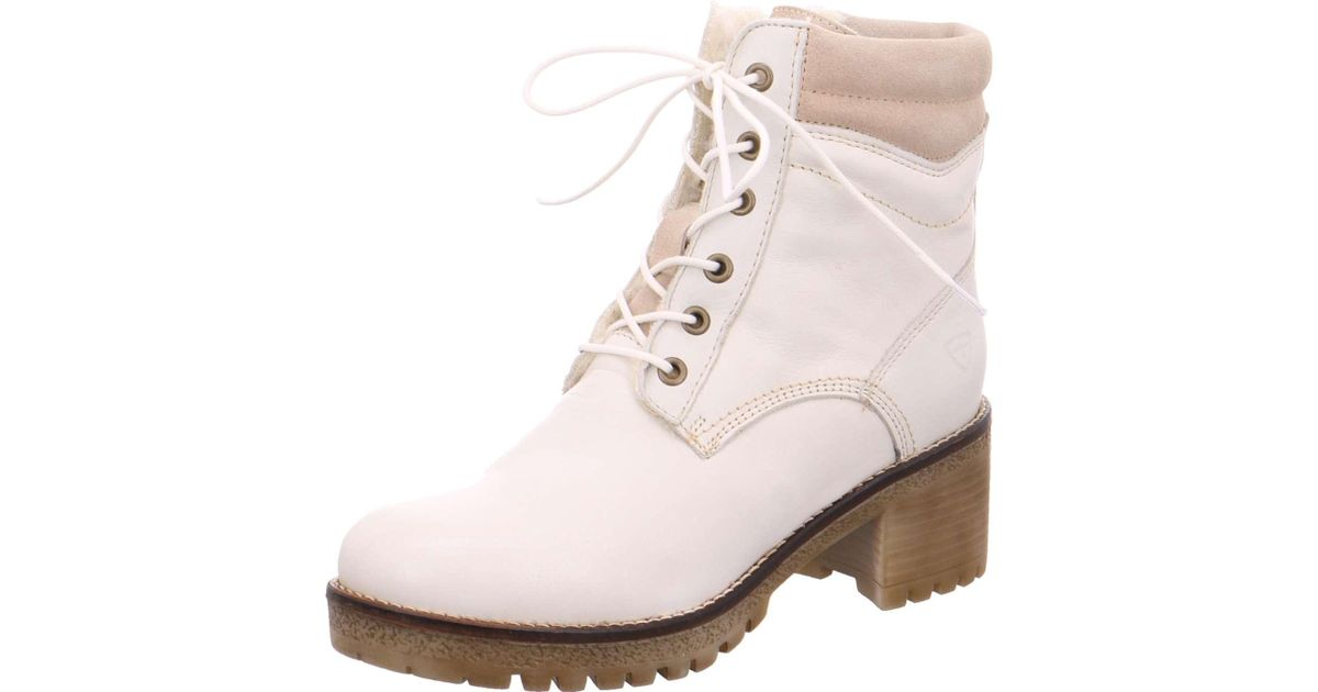 cute cheap shopping best online Tamaris Wo Lace-up Boots White Da.-stiefel in White - Lyst