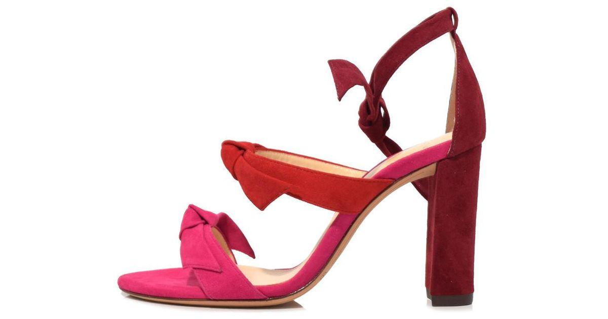 a5b2056472c4 Lyst - Alexandre Birman Raspberry flame rosewood Lolita Block Sandal in Pink