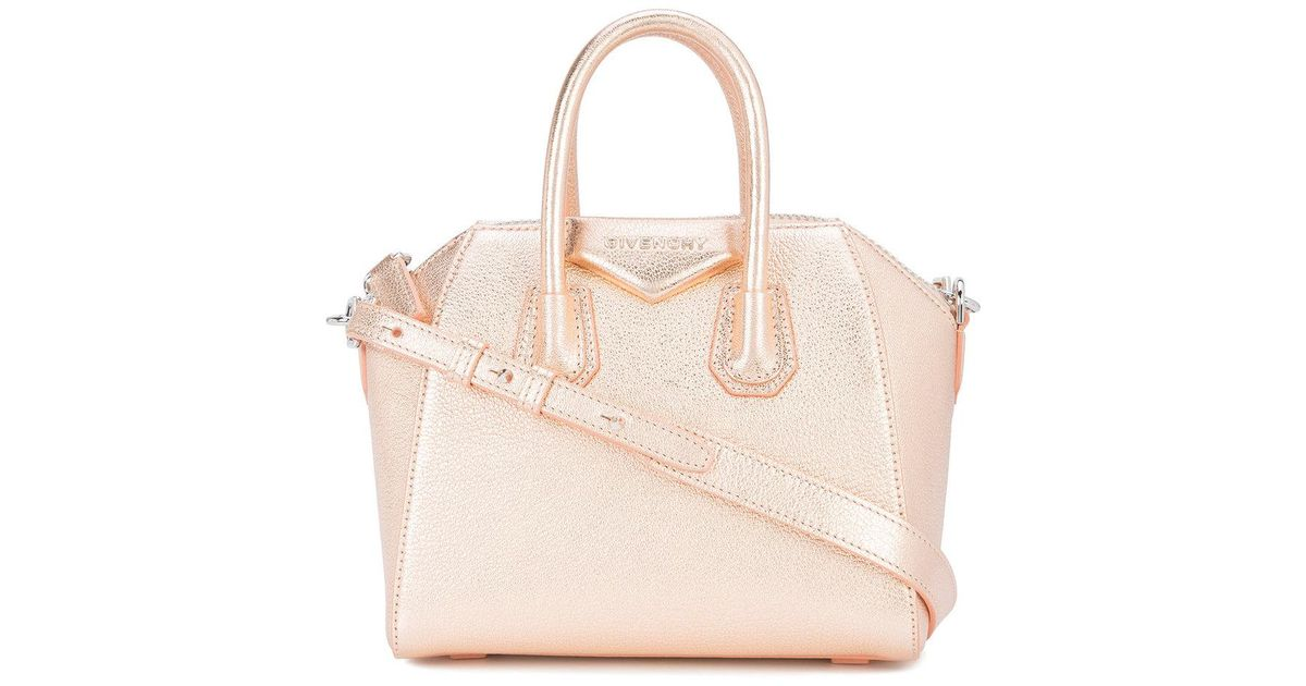 566528e728 Lyst - Givenchy Rose Gold Mini Antigona Tote Bag in Pink