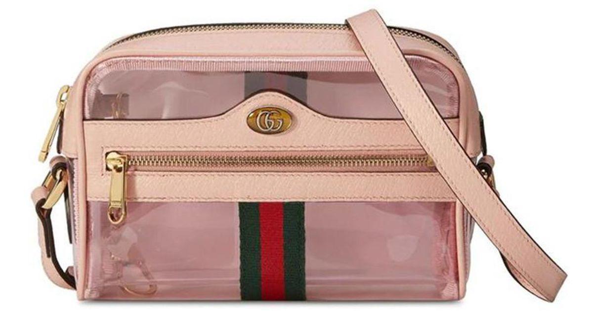 1b3525326 Gucci Ophidia Mini Transparent Bag in Natural - Lyst