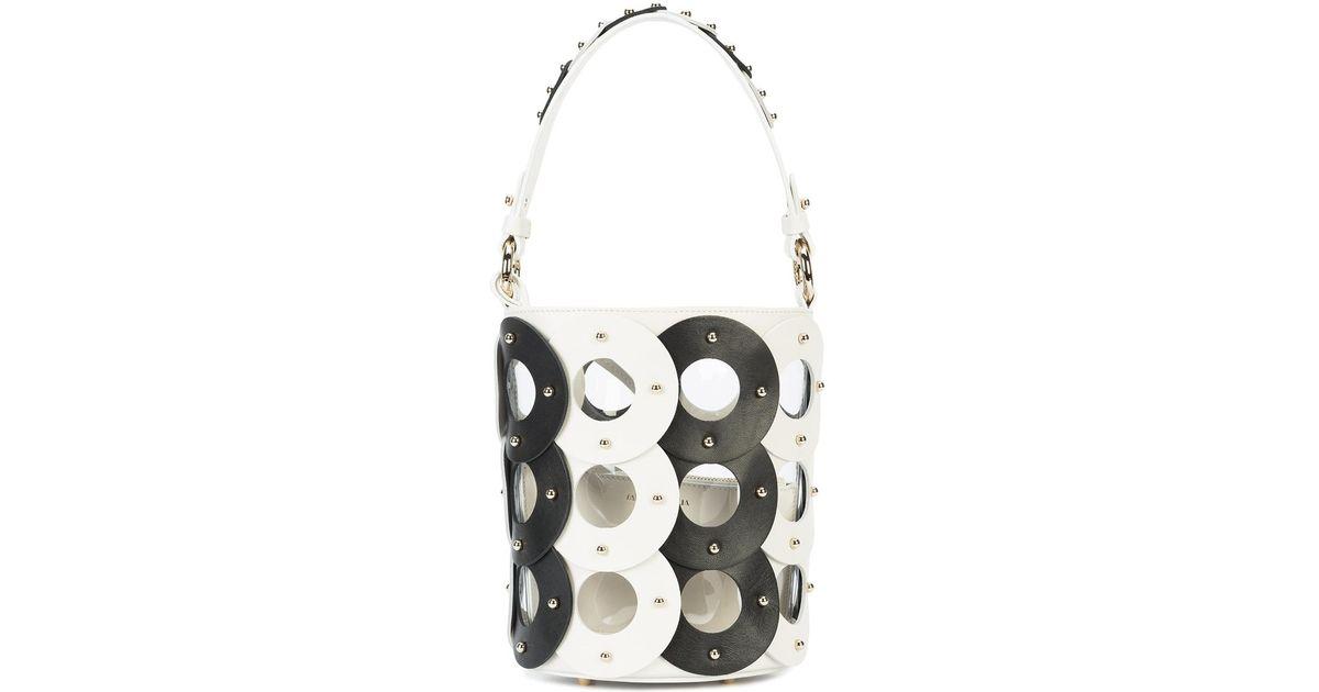 Zoe Circle Bucket bag - Black Sara Battaglia pteF4JxIzg