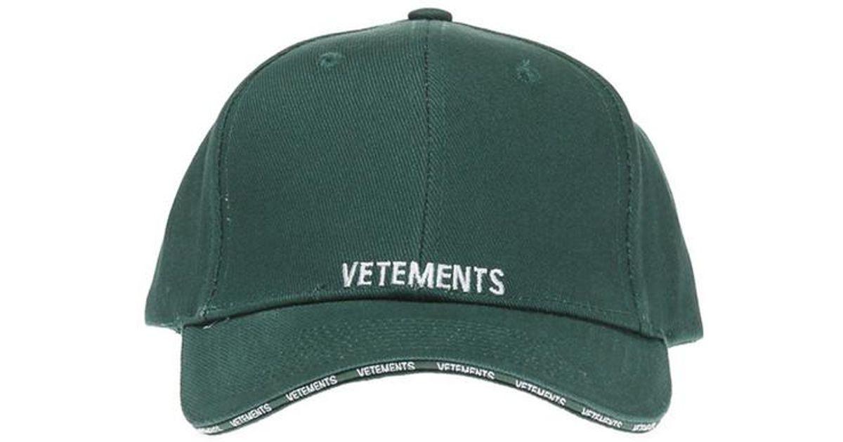 8248b360644175 Vetements Green Logo Cap in Green for Men - Lyst