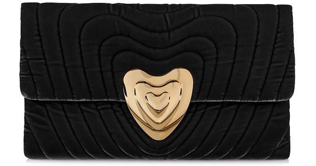 2b796612a88f ESCADA Velvet Heart Clutch Bag in Black - Lyst