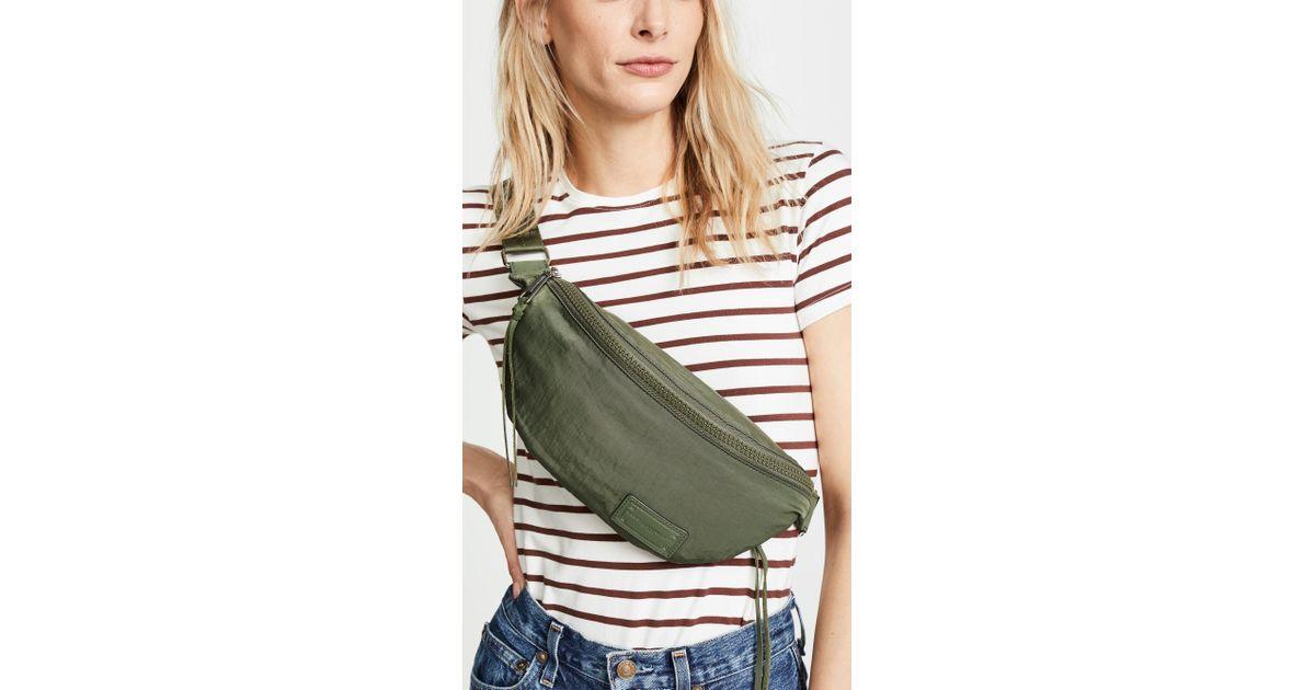 4500199d262 Rebecca Minkoff Nylon Belt Bag in Green - Lyst