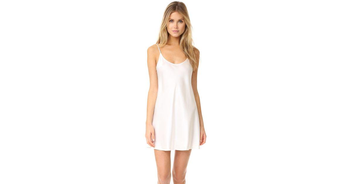Silk Chemise dress - White La Perla Xp07NF01tq