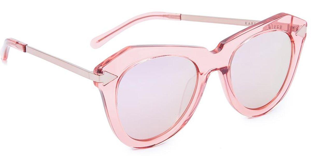 9a137d21bcd Lyst - Karen Walker One Star Sunglasses in Pink