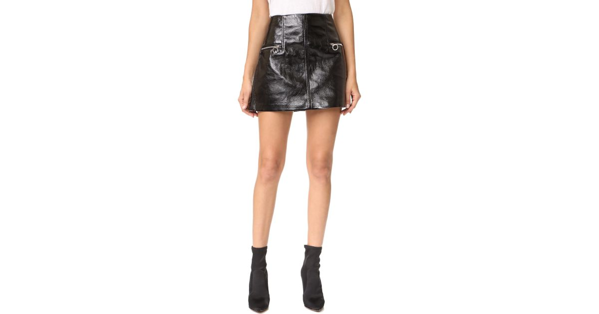 eb0532a60f Lyst - Blank NYC Faux Leather Skirt in Black