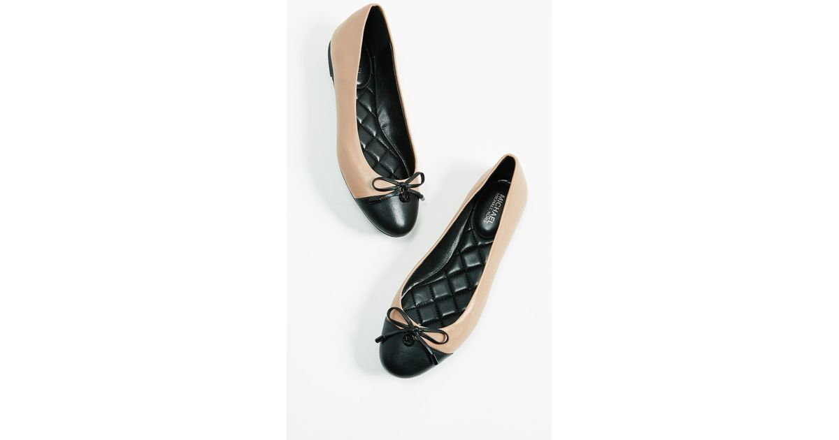 fd6be3b3a15a Lyst - MICHAEL Michael Kors Melody Toe Cap Ballerinas in Black