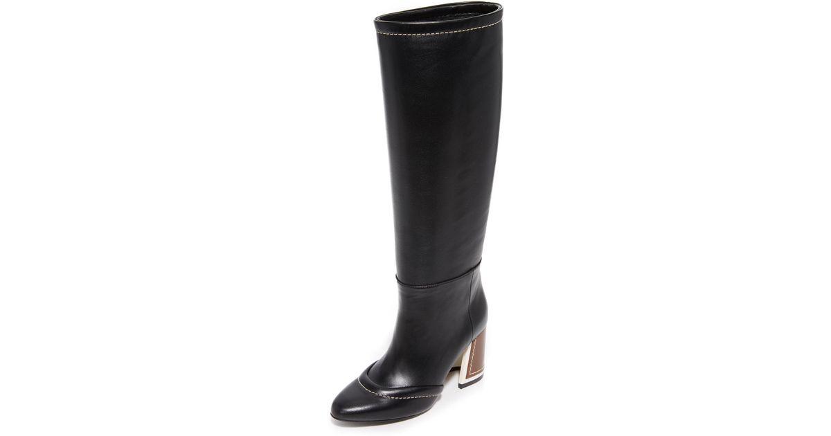 3224b2dc6908 Lyst - Marni Knee High Boots in Black