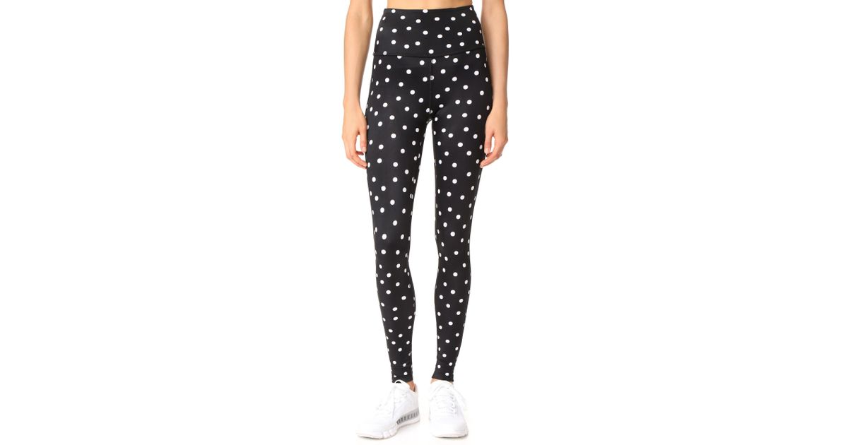 d96bc4aa5b1fb Beyond Yoga X Kate Spade New York Madison Tuxedo Leggings in Black - Lyst