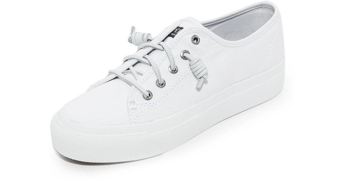 146c95eee26f Lyst - Sperry Top-Sider Sky Sail Platform Sneakers in White