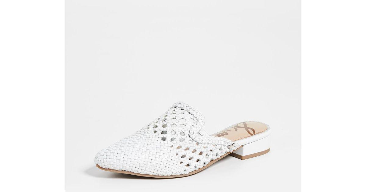 3ce678fed Sam Edelman Clara Women39s Shoes White Woven Leather t