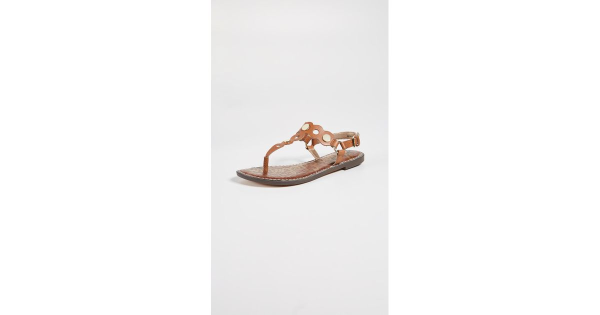 ec30abd90e59e0 Lyst - Sam Edelman Gilly Flat Sandals