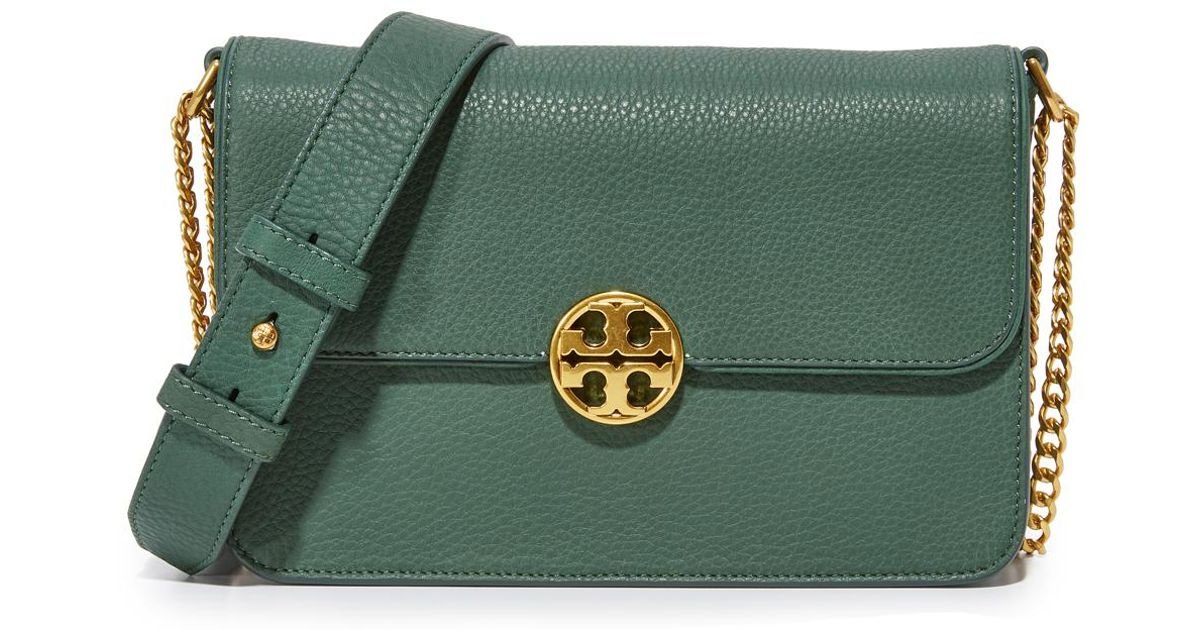 6c01d6ecd816 Lyst - Tory Burch Chelsea Convertible Shoulder Bag in Green