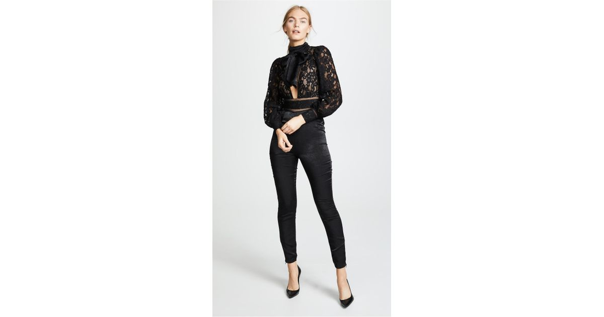 83aa700cb14 Misha Collection Clara Jumpsuit in Black - Lyst