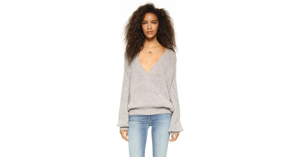 7090c93da53d Lyst - Free People Karina Wrap Sweater