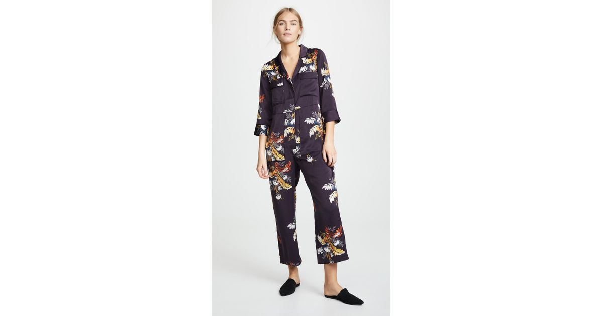 02b05948d347 Lyst - Madewell Pajama Jumpsuit in Blue