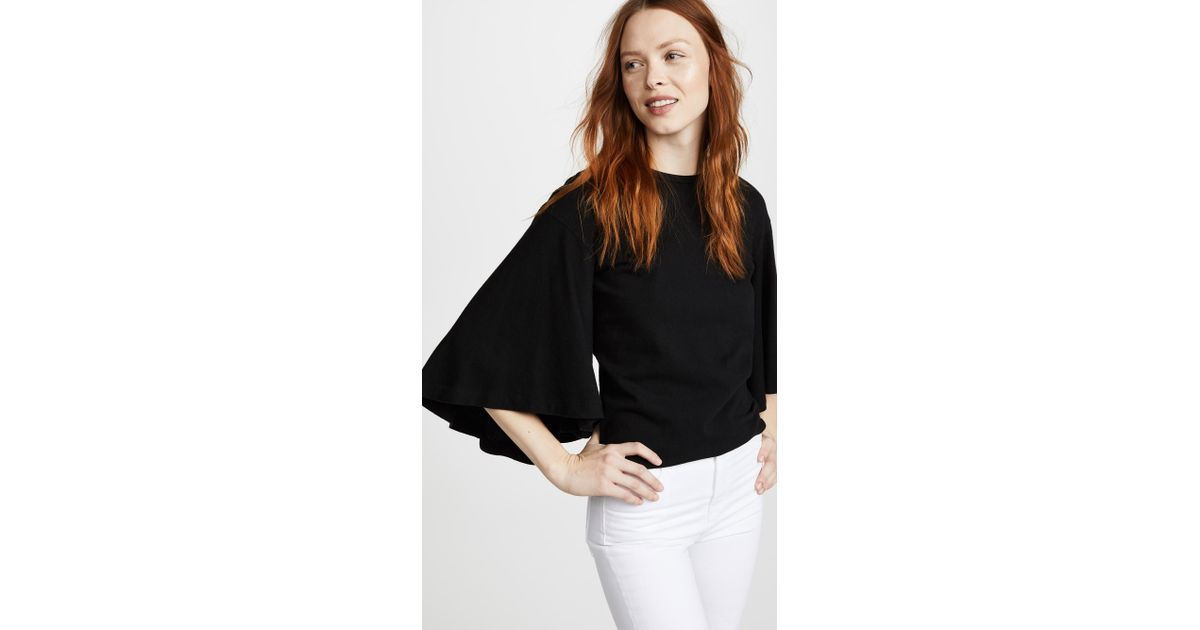 7016162cebcf2 Lyst - Citizens of Humanity Flutter Top in Black