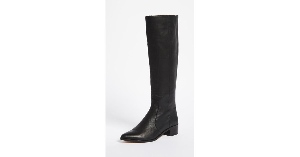 dolce vita morey knee high boots in black lyst