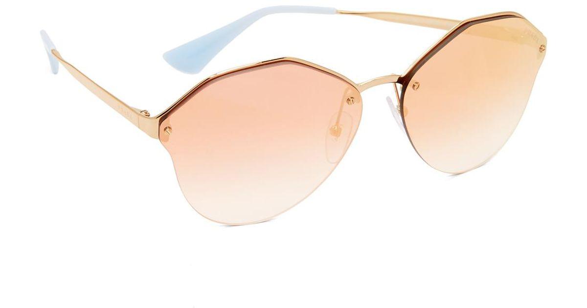 2da26857a732 Prada Cinema Oval Sunglasses - Lyst