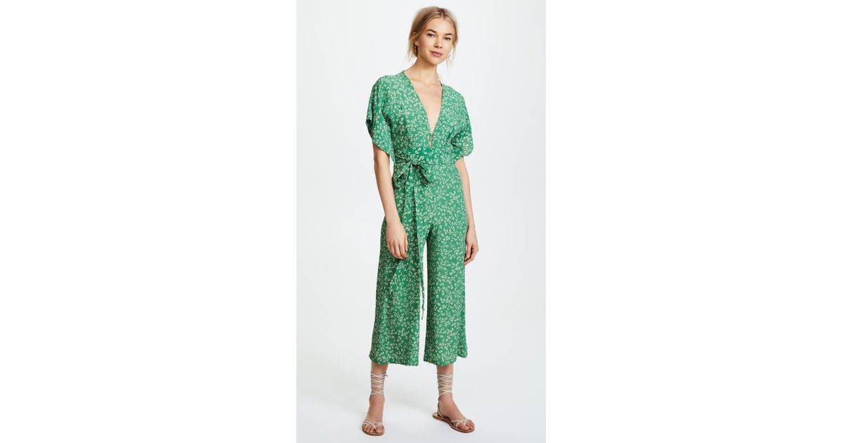1de6b4c888a Lyst - Faithfull The Brand Cedric Jumpsuit in Green