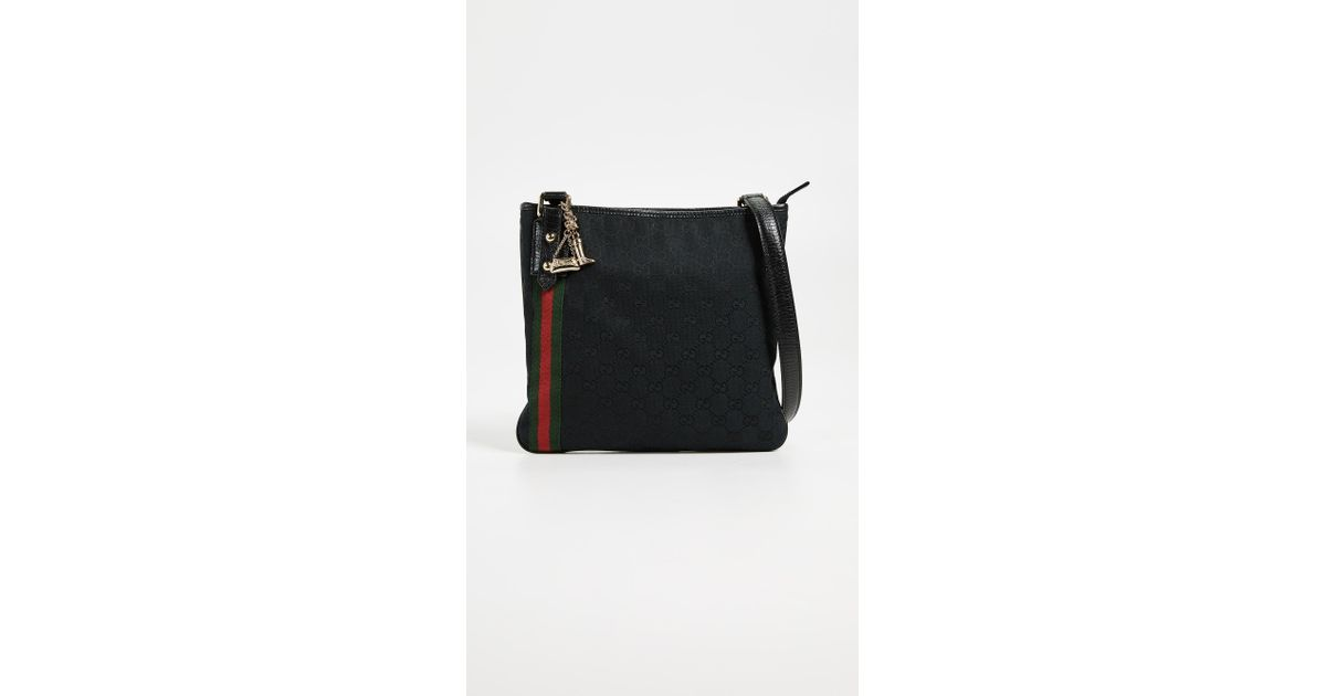 c7666f65fa26 Lyst - What Goes Around Comes Around Gucci Canvas Jolicoeur Messenger in  Black
