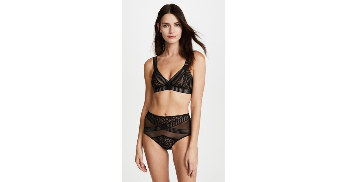 8d0c7cc5a034d Lyst - Calvin Klein Vixen Unlined Triangle Bralette in Black
