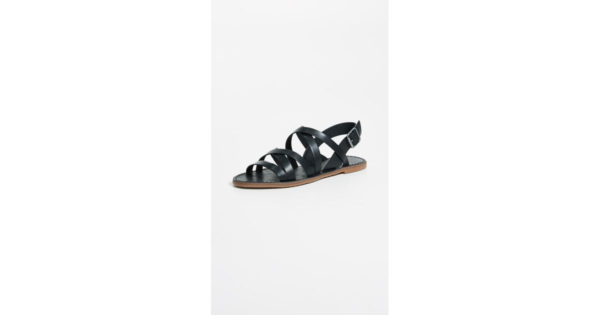 5108772e54f580 Lyst - Madewell Outstock Multi Strap Sandals in Black