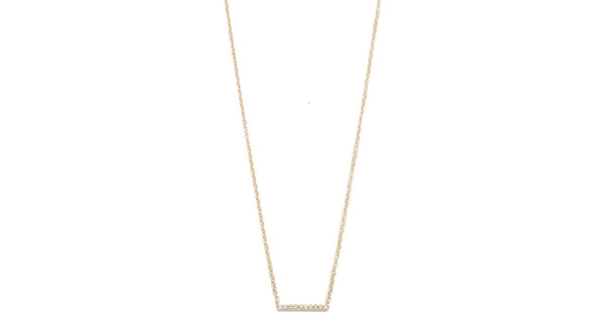 EF Collection Chevron necklace - Metallic 3d8syLGr