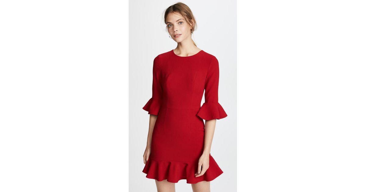 0a289ad6ff14 Lyst - Black Halo Brooklyn Dress in Red