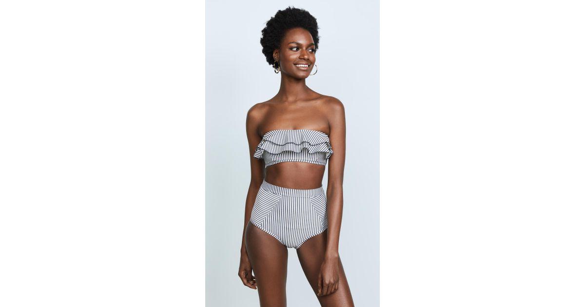 3da001cc08148 Lyst - Suboo Ziggy Frill Bandeau Bikini Top