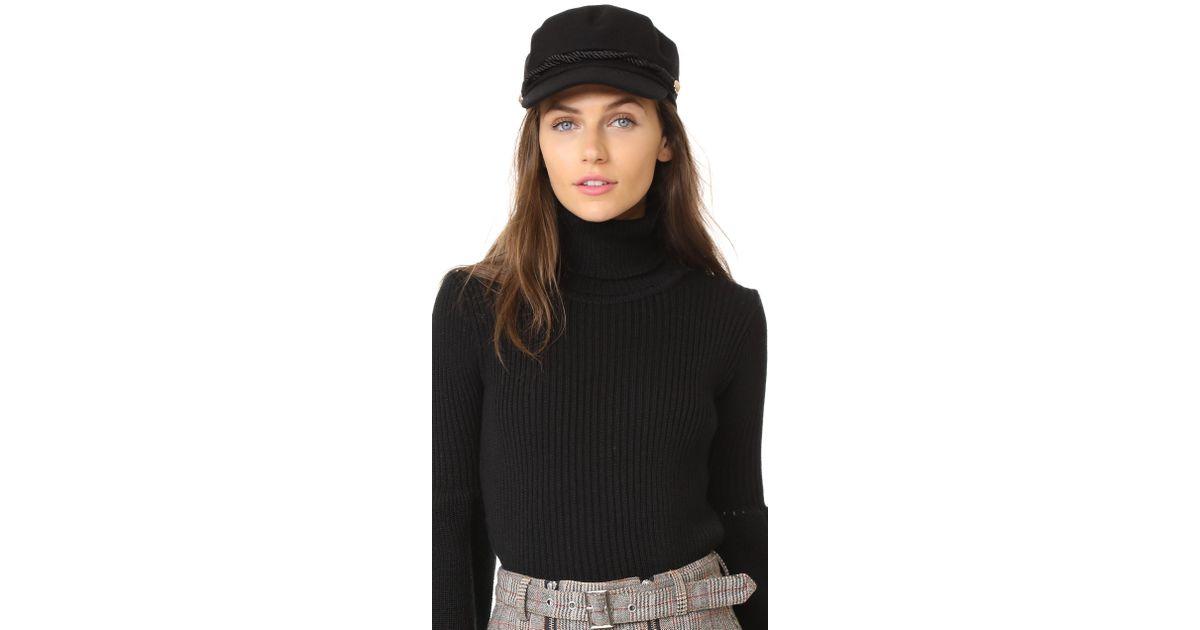 124e5cc23dc Lyst - Hat Attack Emmy Wool Cap in Black