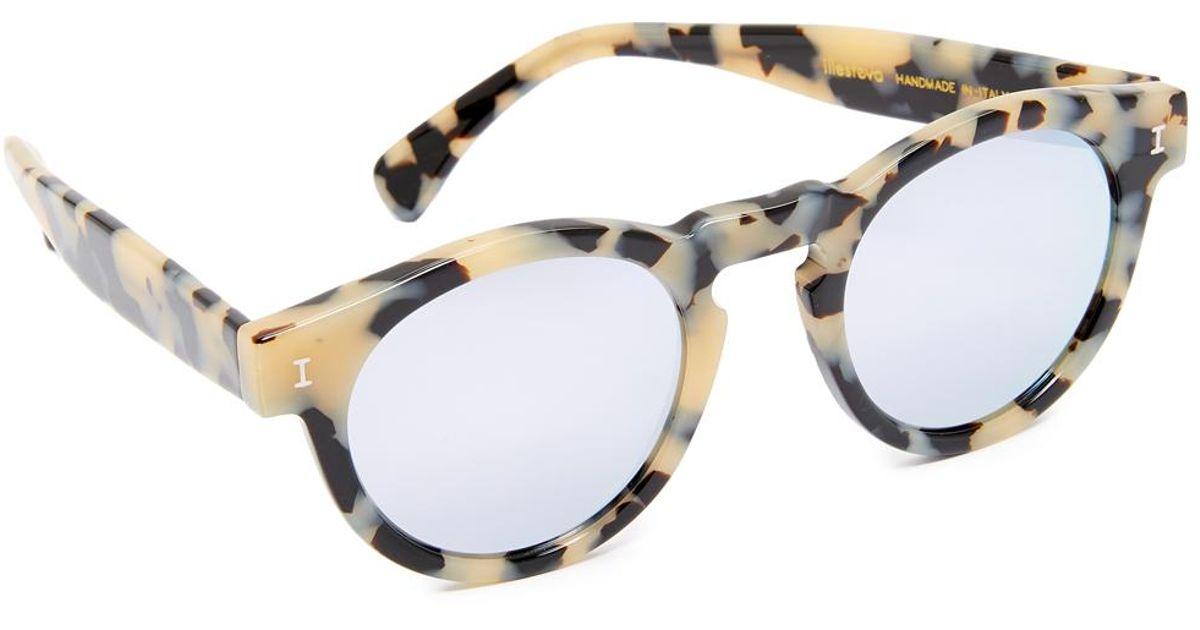 6570d2eb42e Lyst - Illesteva Leonard Mirrored Sunglasses